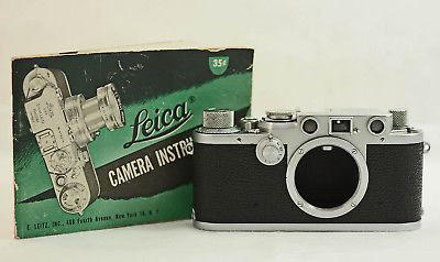 vintage-leica-iiif-red-dial-camera-body-with-original-instruction-manual-1950-56